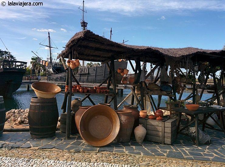 Recreación de un barrio portuario medieval, Muelle de las Carabelas