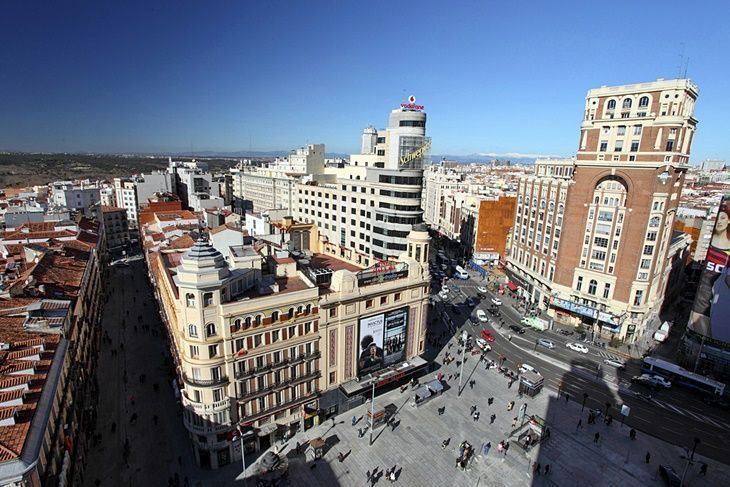 Plaza de Callao y Gran Vía, Madrid. [By Madrid11 en Flickr, (CC BY-NC-ND 2.0)]