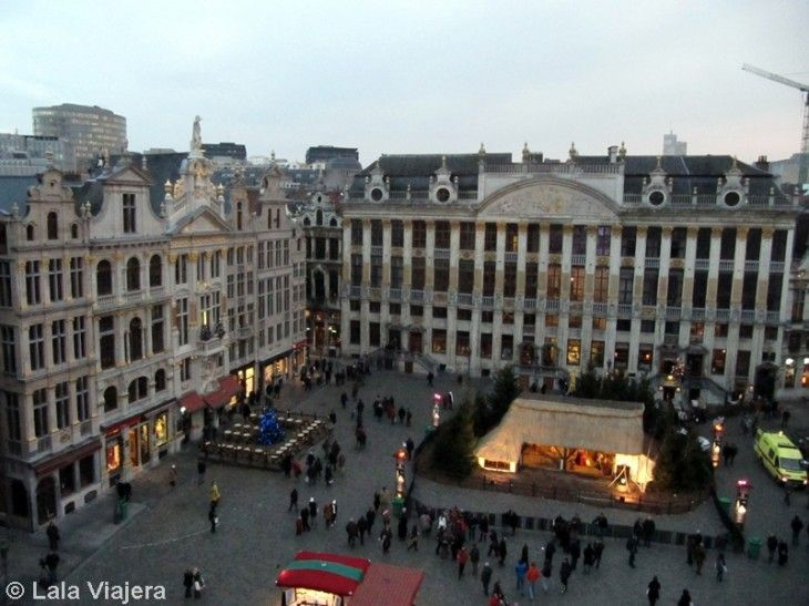 Grand Place de Bruselas en Navidad