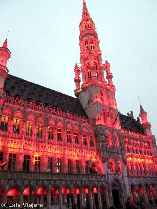 Iluminación navideña de la Grand Place