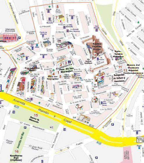 Plano turístico del casco histórico de Marbella