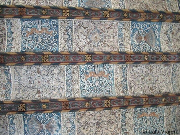 Techo de la escalera del Palacio de la Aljaferia, Zaragoza