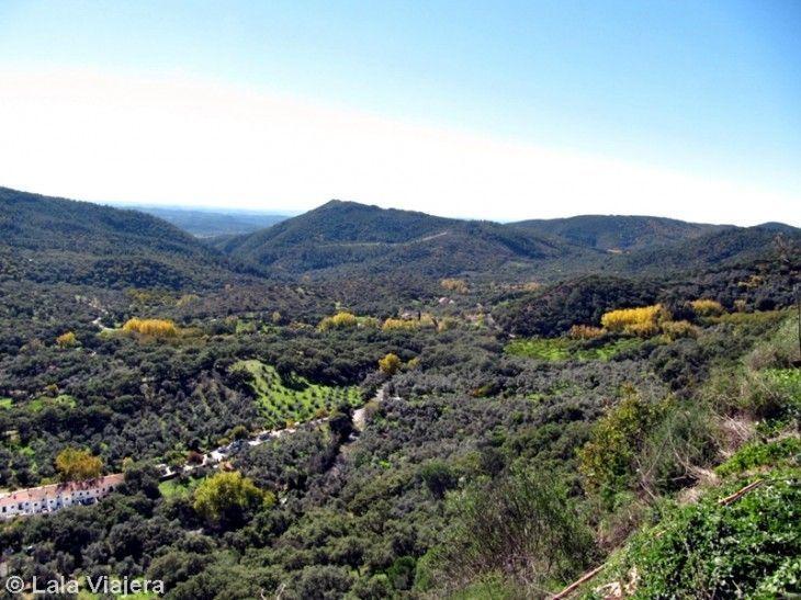 Parque Natural Sierra de Aracena y Picos de Aroche desde la Peña de Alájar