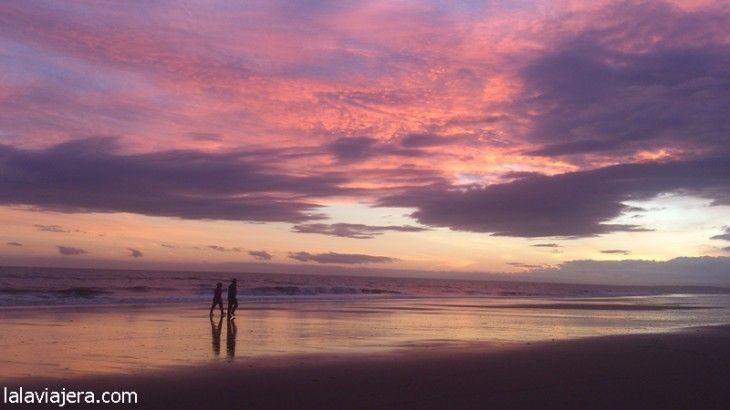 Atardecer en la playa de Islantilla (Huelva)