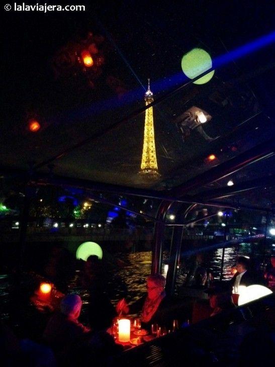 Cena crucero por el Sena Bateaux Parisiens