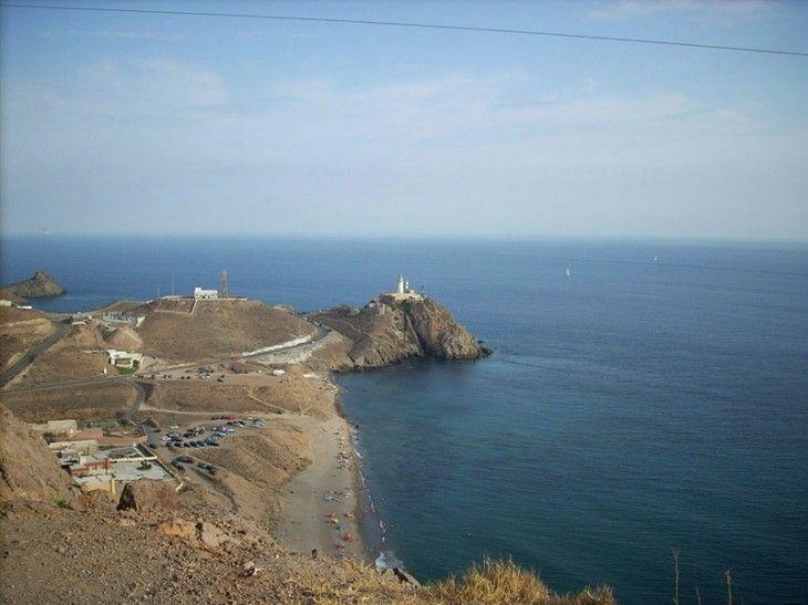 Vista panorámica del Cabo de Gata, Almería