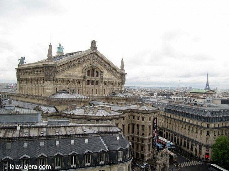 Ópera Garnier desde la terraza de Galerías Lafayette