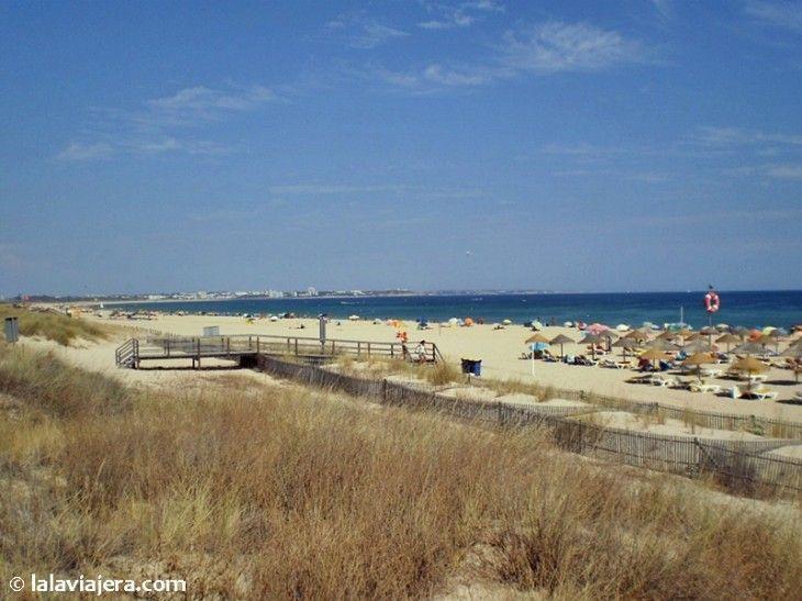 Meia Praia, una de las mejores playas del Algarve