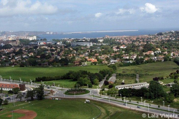 Mirador y vistas desde la Torre de La Universidad Laboral, Gijón