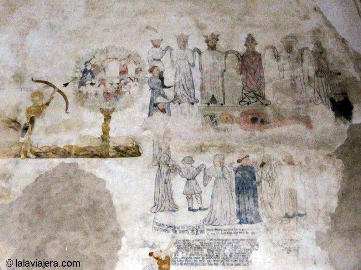 Pintura de la Danza de la Muerte, en el Convento de San Francisco de Morella