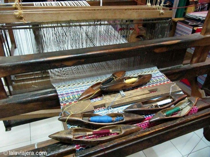 Telar de mantas morellanas, artesanía textil en Morella