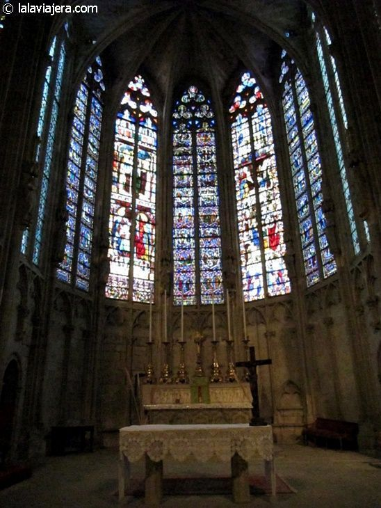 Vidrieras del altar mayor de la Basílica de Saint-Nazaire, Carcassonne