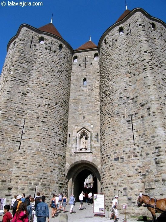 Puerta Narbona, acceso a la Cité de Carcassonne