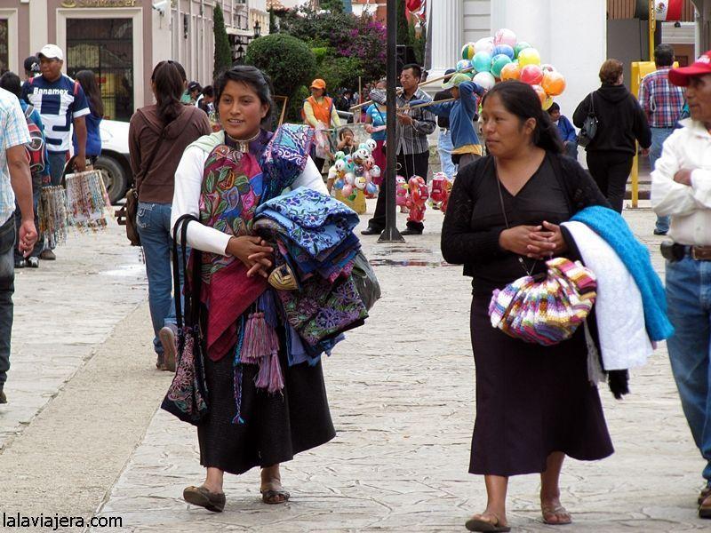 Indígenas descendientes de los mayas en San Cristóbal de las Casas