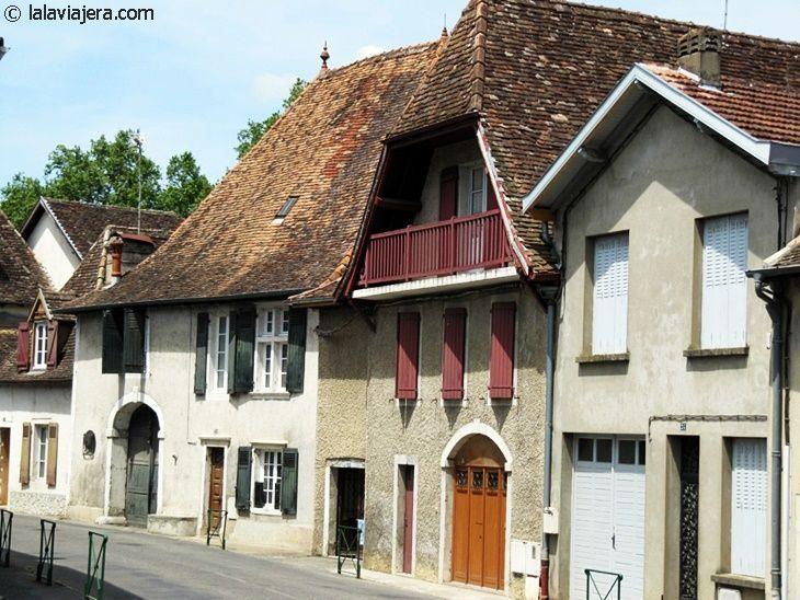 Arquitectura típica de la ciudad medieval de Orthez