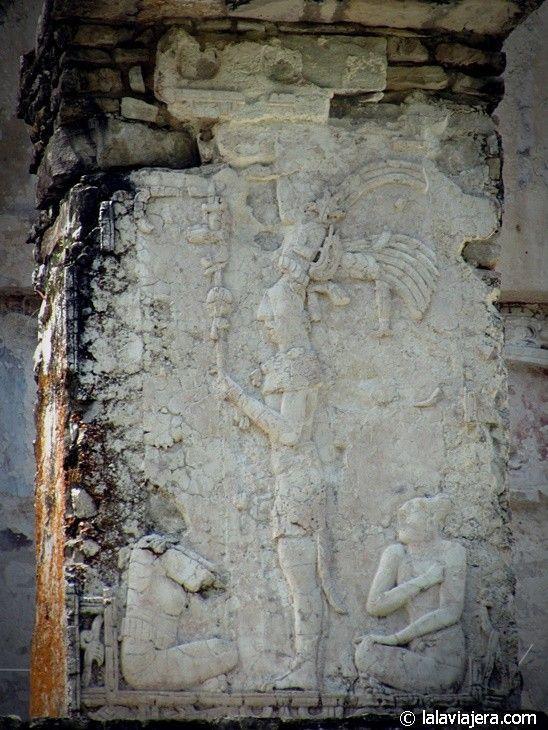 Estela del rey Pakal, en Palenque