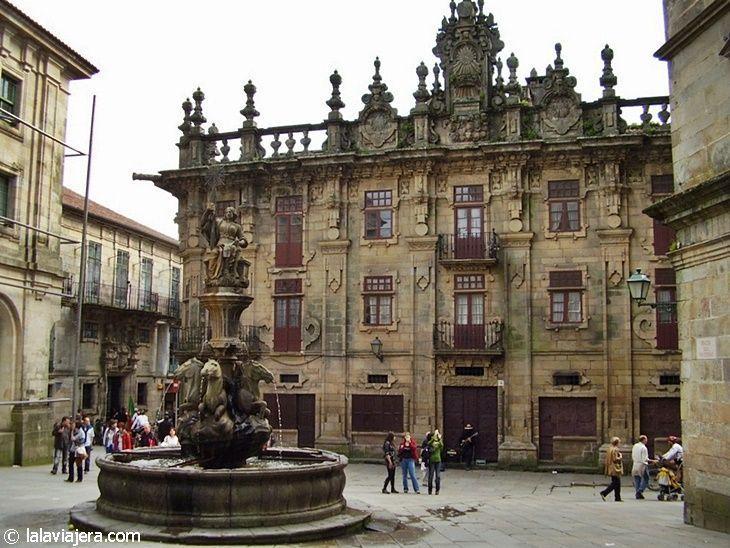 Plaza Platerías en Santiago de Compostela