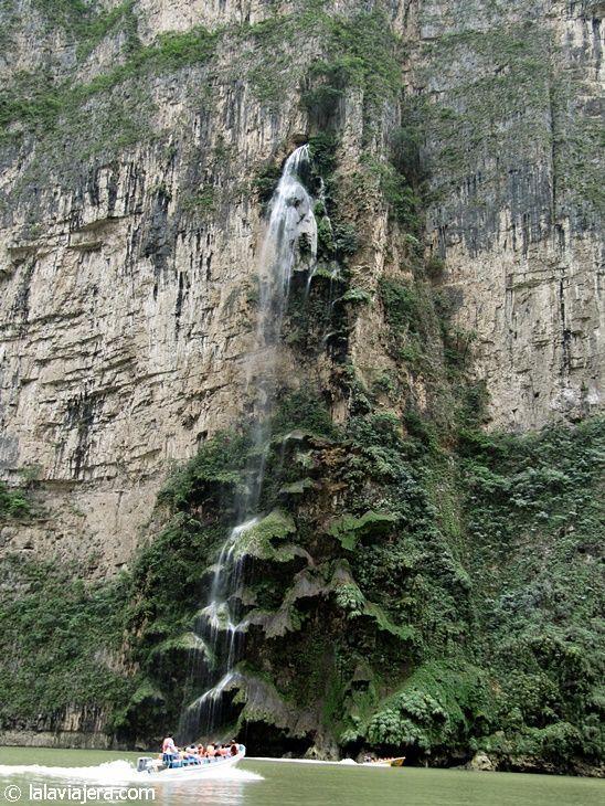 Cascada del Árbol de Navidad, Cañón del Sumidero