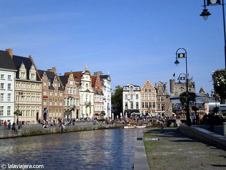 Canales de Gante y barrio de Korenlei