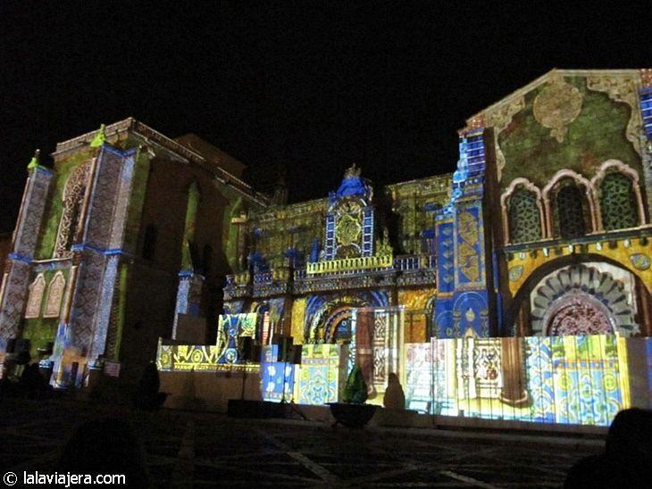 Espectáculo de luz y sonido sobre la Basílica de San Isidoro, León