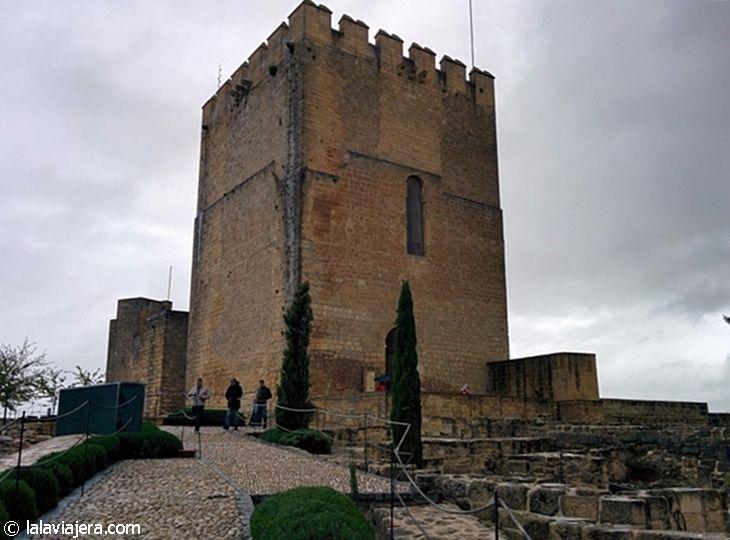 Torre del alcázar de la Fortaleza de la Mota, en Alcalá la Real (Jaén)
