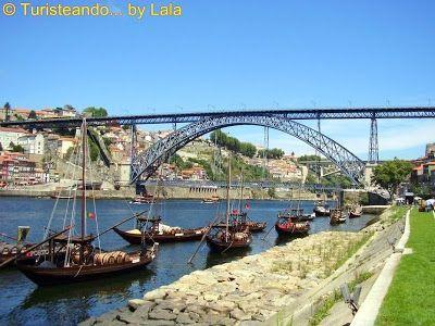 ribera Oporto, puente Luis I