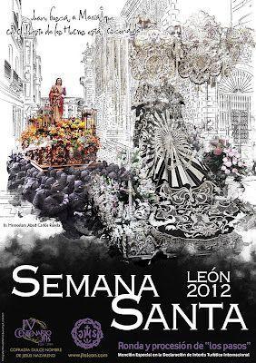 cartel semana santa leon 2012