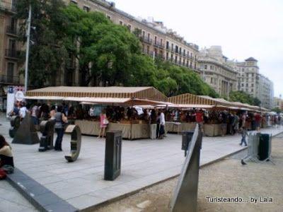 fira santa llucia, mercado navideño barcelona