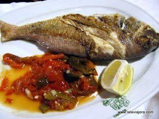 Urta a la brasa, pescado tipico de Cadiz