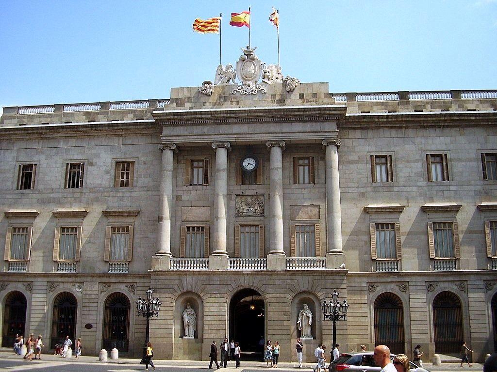 Ayuntamiento de Barcelona, en la Plaça de Sant Jaume
