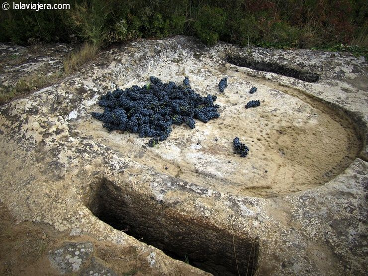 Lagar rupestre a las afueras de Labastida