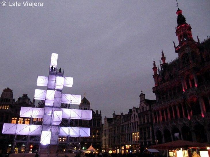 Arbol de Navidad, Grand Place de Bruselas