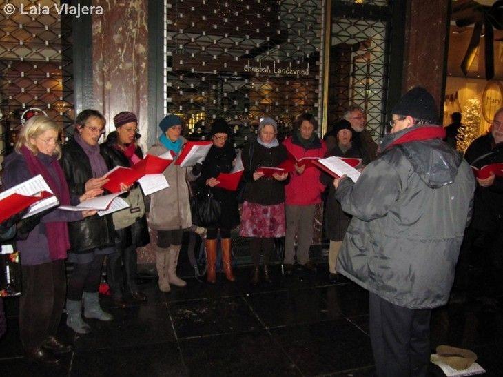 Coro de villancicos en Bruselas