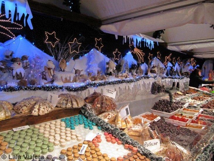 Dulces en el Mercado Navideño de Bruselas