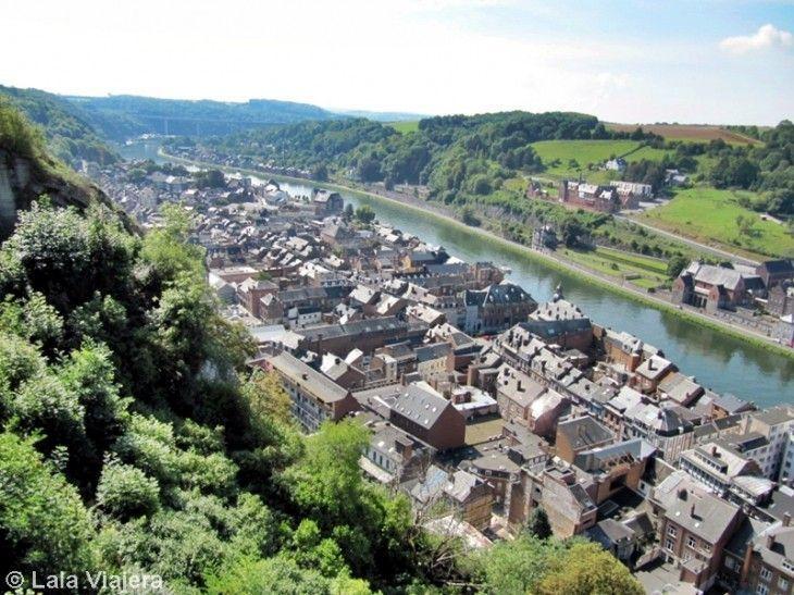 Vistas del río Mosa desde la ciudadela de Dinant