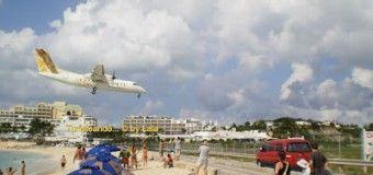 Maho Beach, avión a la vista!