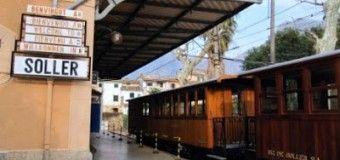 El tren de Soller y las tejas pintadas de Fornalutx