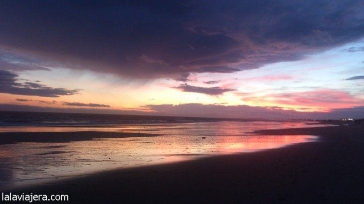 Puesta de sol en Islantilla, Huelva