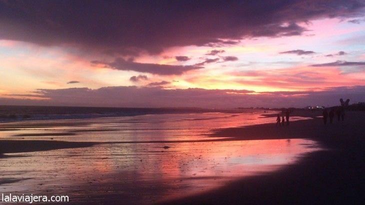 Atardecer en Playa de Islantilla, Huelva