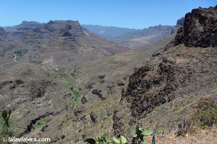 Barranco formado por el volcán Fataga, Gran Canaria