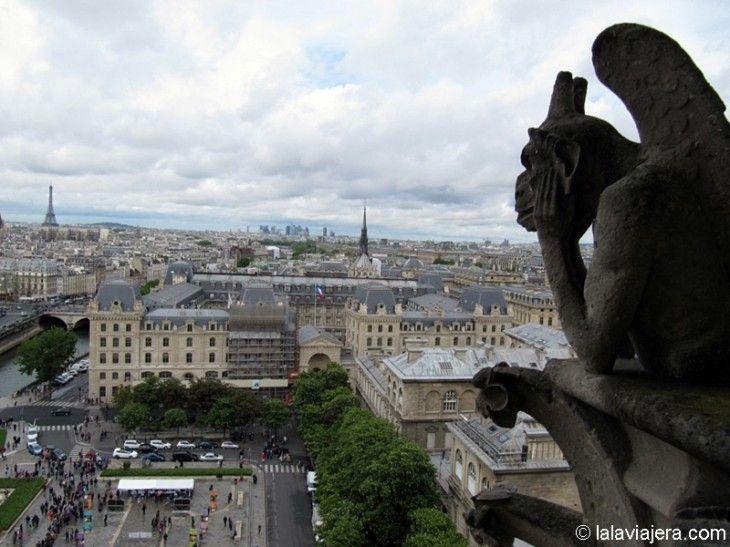 París a vista de gárgola (en Notre Dame)