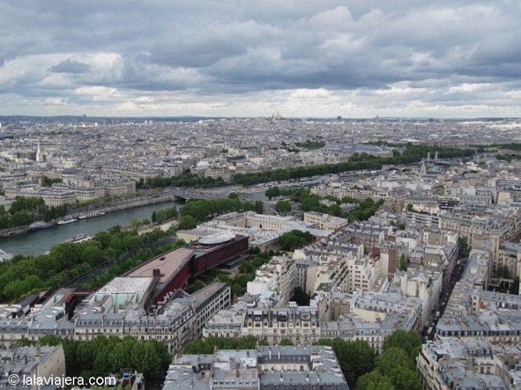 París y el Sena desde la Torre Eiffel