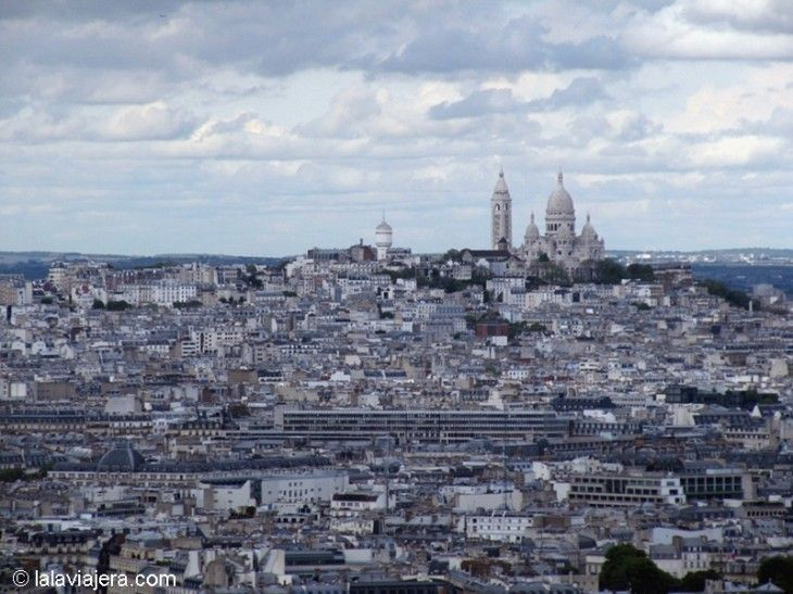 El Sagrado Corazón (Sacre Coeur) desde la Torre Eiffel