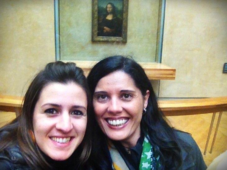 #selfie con la Gioconda, en el Museo del Louvre de París