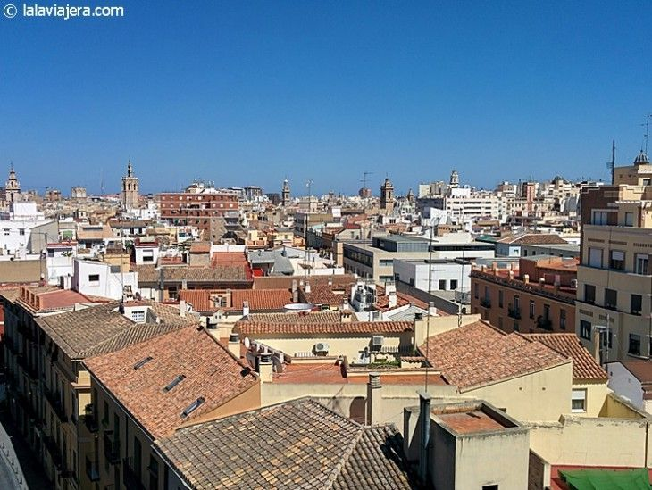 Vista del centro histórico de Valencia desde las Torres Quart