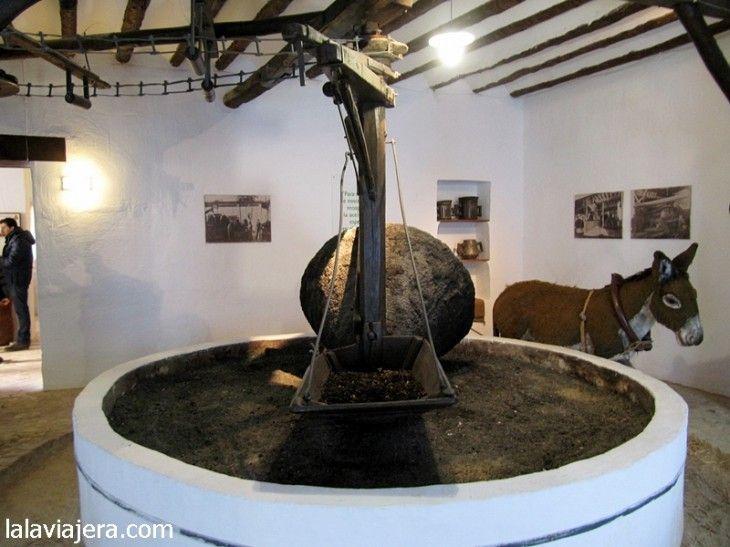 Almazara tradicional en el Museo de la Cultura del Olivo
