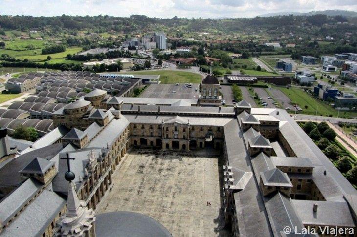 Panorámica de la Universidad Laboral desde el mirador de la torre