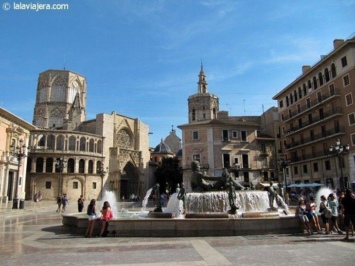 Plaza de la Virgen, centro histórico de Valencia