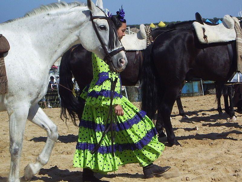 Romería de El Rocío, embarque de las hermandades en Sanlúcar hacia Doñana. (Foto de Avicentegil)