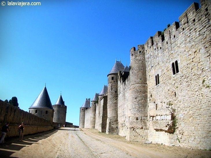 Murallas y torres de la ciudadela de Carcassonne